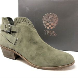New VINCE CAMUTO Panthea ankle boots 11 olive grey